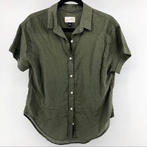 Universal Threads Olive Green Button Down Top